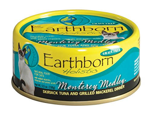 Earthborn Holistic Cat Food - Monterey Medley Skipjack Tuna and Grilled Mackerel Dinner, Wet, 5.5oz