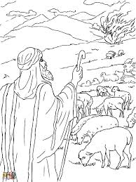 Grand Moses And The Burning Bush Coloring Pages