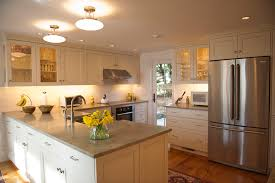 semi flush ceiling lights in kitchen traditional with mint green