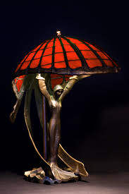 Tiffany Style Lamps Canada by Red Lamp Red Lamp Shade Art Nouveau Lamp Home Decor
