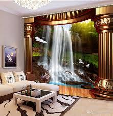 Schlafzimmer Vorhã Nge Großhandel Vorhänge Fenster 3d Wasserfall Römische Spalte Landschaft Vorhang Für Wohnzimmer Schlafzimmer Luxus Europäischen Stil Yiwu2017 168 82