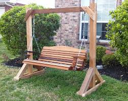 Wooden Porch Swing With Stand QPYGX cnxconsortium