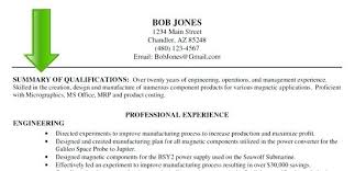 Resume Summary Examples For It Fresher Packed With To Produce Astounding Engineering