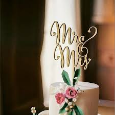 Rustic Wooden Mr Mrs Cake Topper