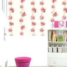 Target White Brick Wallpaper Self Adhesive Wall Paper Pink Rose Flower