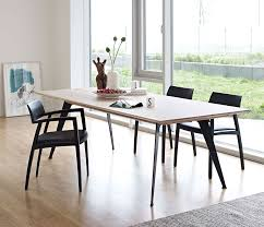Dining Room Contemporary Tables Modern Rustic Table Intended For Idea 16