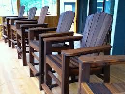 stylish bar height adirondack chair plans tall adirondack chair