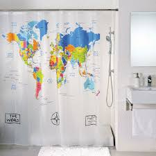 World Map Shower Curtain and Decorate Bahtroom — BITDIGEST Design