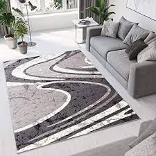 tapiso teppich wohnzimmer kurzflor modern teppiche grau creme wellen streifen meliert esszimmer schlafzimmer ökotex 250 x 350 cm