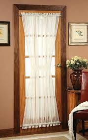 curtains for front door windows on the side beside window design