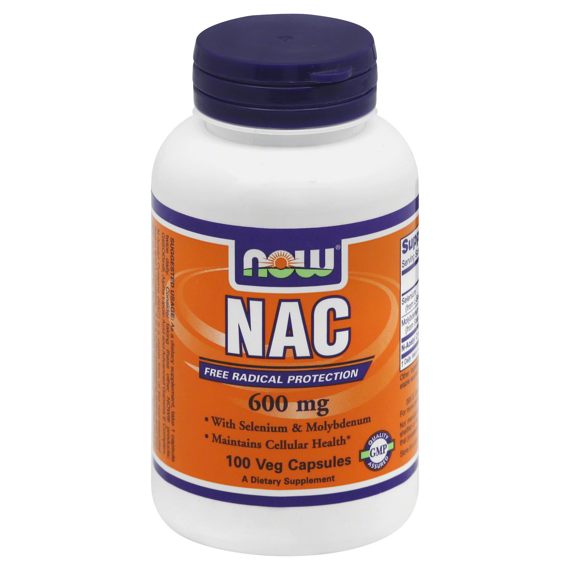 Now Foods NAC Dietary Supplement - 100 Capsules