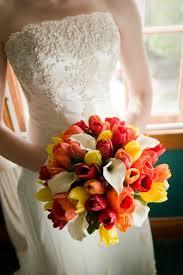Beach Wedding Bouquet Tropical Sunset