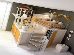 Full size loft bed with desk underneath would be neat but not