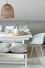 Basket Lamp Design Light Brown White Dining Table