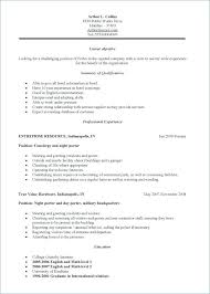 Janitorial Sample Resume Examples Janitor Template Of Objective