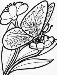 Coloring Pages Of Butterflies And Flowers
