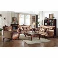 Tufted Sofa And Loveseat by Victorian Inspired Formal Living Room Sets