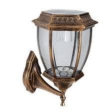 classic bronze small garden light outdoor solar led wall lighting