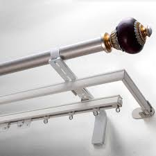 Menards Curtain Rod Finials by Decorating Enchanting Double Curtain Rods For Modern Interior