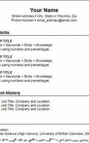 How To Make A Resume For Free Templates Create