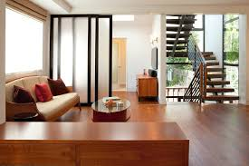 Small Living Room With Front Door Contemporary Steel Hand Rail Stacked Stair Case Sliding Partition Doors