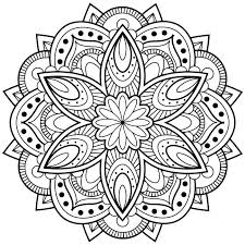 Mandala Flower Coloring Pages For Adults Free Online Printable Sheets Kids Get The Latest