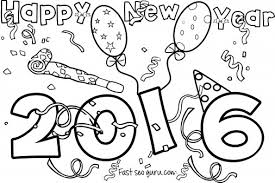 Happy New Year 2016 Coloring Pages For Kids