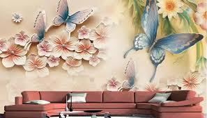 hochwertige fototapete 3d geprägt schmetterling blumen wohnzimmer hintergrund wandbild kunst malerei wandbild tapete