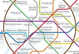 Moscow Metro map by Ilya Birman