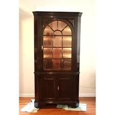 Tall Dining Room Cabinet Corner China For White With Glass Doors