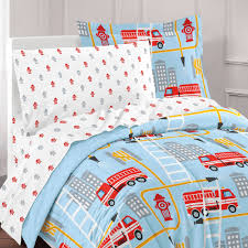 Dream Factory Fire Truck Bed In A Bag Comforter Set,Blue - Walmart.com