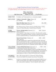 Sample Resume For Nursing Student Template Hdresume Templates Cover Letter