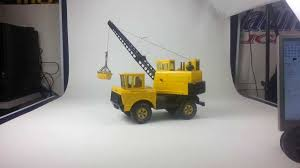 Vintage Metal Mighty Tonka Toy Crane - 1960's To 1970's - YouTube