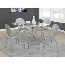 Cheap Kitchen Table Sets Canada by Contemporary 4 Seating Square Casual Dining Table Chrome