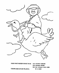 Mother Goose Nursery Rhymes Coloring Pages 107