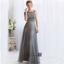 aliexpress com buy gray long bridesmaid dresses lace backless