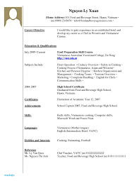 Resume For High School Students With No Experience Inspirational Job Examples Unique