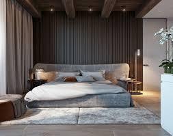 schlafzimmer farbkombination grau braun wandgestaltung