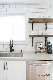 My Two Kitchens Subway Tile KitchenWhite TilesRustic Industrial
