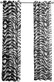 1 stück urijk transparent gardine zebra muster vorhang volie