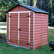 6x5 Shed Double Door by Palram Skylight Plastic Amber Shed 6x5 U0027 Internet Gardener
