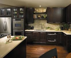 The Look Of Dark Java Cabinets