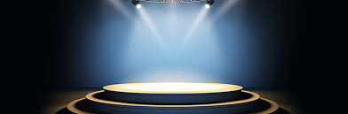 Light Shining Podium Poster Background Color Textured Image