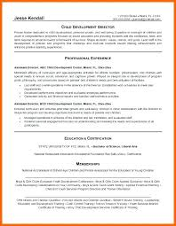 Resume For Childcare Child Care Director Sample Fresh Assistant