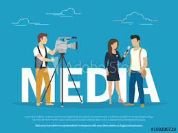 Mass Media Concept Illustration Of Live News Tv Broadcasting Flat Design Female Reporter Taking