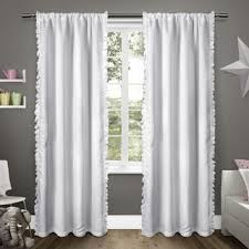 Purple Ruffle Curtain Panel by White Ruffled Luxury 96 Inch Curtain Panel Free Shipping Today
