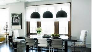 Adding Black Lamp Shades To Dining Room Decorating In Neutral Colors