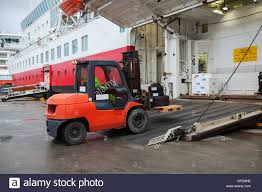 100 Ad Lift Truck Big Passenger Ferry Loading With Lift Truck Stock Photo 65446458