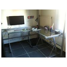 bureau metal verre bureau metal simple lit mezzanine places avec bureau idee