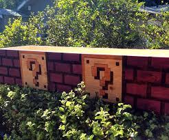 Mario Bros Question Block Lamp by Mario Bros Brick Planter Box